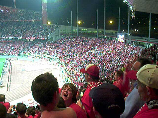 Ring of Fire, Istanbul - Liverpool fans