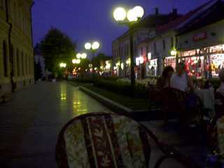 Valjevo at night